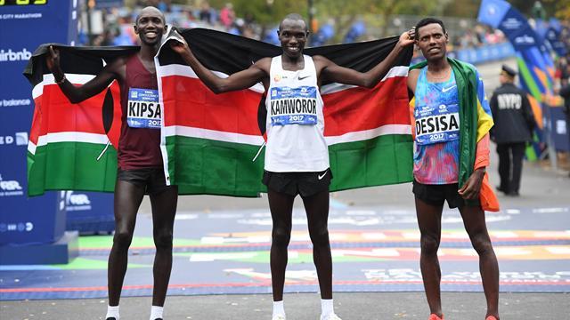 Marathon de New York : Le Kényan Kamworor mate Kipsang
