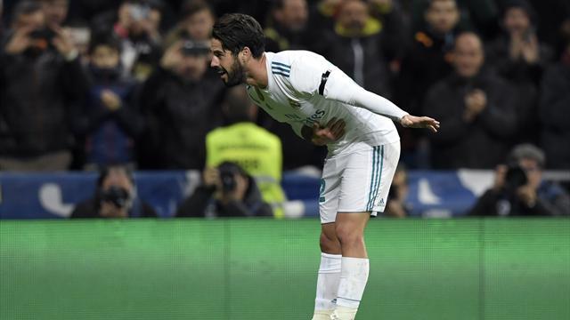El Real Madrid golea a Las Palmas y se mantiene tercero a ocho puntos del Barça (3-0)