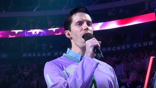 Сын скончавшегося комментатора НХЛ исполнил гимн США так, что даже ты встанешь с кресла