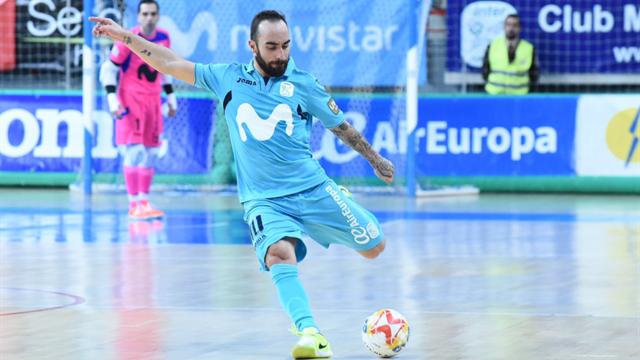 Movistar Inter más líder (5-0), y el Barça sufre en Peñíscola (0-1)