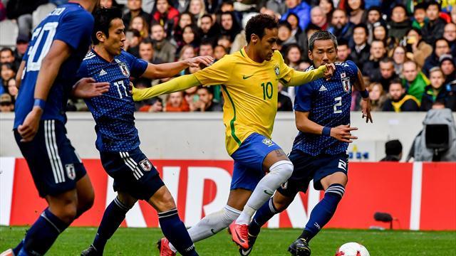 Neymar misses penalty but Brazil cruise against Japan