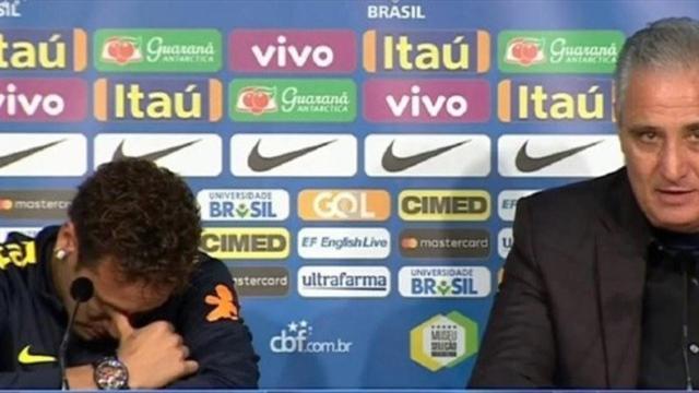 Neymar se derrumba en rueda de prensa harto de rumores contra Emery y Cavani