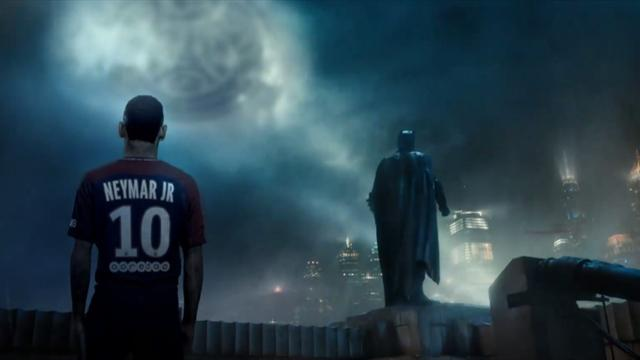«ПСЖ» анонсировал «Лигу справедливости» трейлером, где Неймар – Бэтмен, а Кавани какой-то Водяной