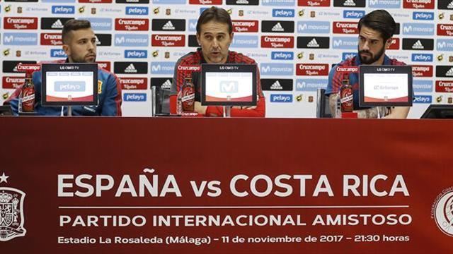 """Lopetegui: """"Costa Rica está asentado en la parte noble del fútbol mundial"""""""