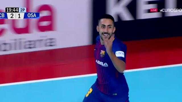 LNFS, Barcelona Lassa-Osasuna Magna: Increíble jugada ensayada que finaliza Joselito (3-1)