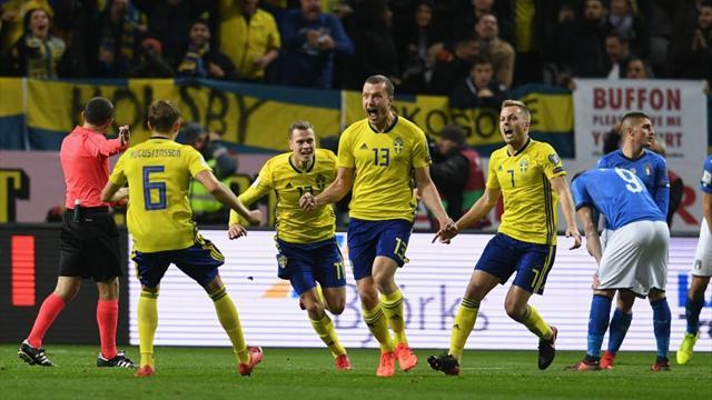 Repesca Mundial Rusia 2018, Suecia-Italia: Apelando a San Siro (1-0)