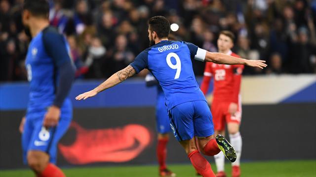 Avec un peu de chance, Giroud a scellé le succès de la France avec son 29e but en bleu