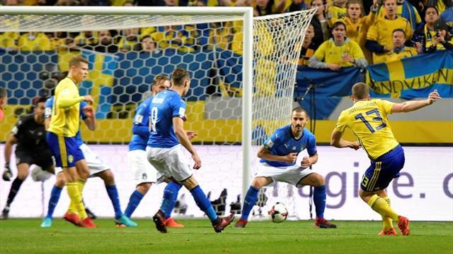 1-0. Johansson obliga a la remontada a una decepcionante Italia