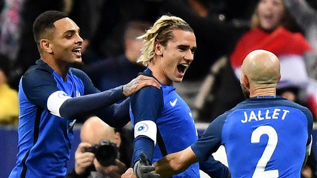 Griezmann and Giroud on target as France beat Wales