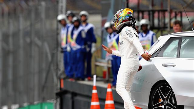 Hamilton crashes out of Brazil qualifying, Bottas takes pole