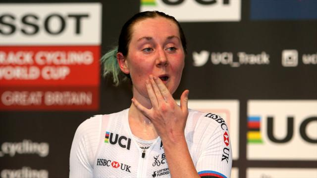GB quartet top time-sheets in women's team pursuit qualifying at Track World Cup