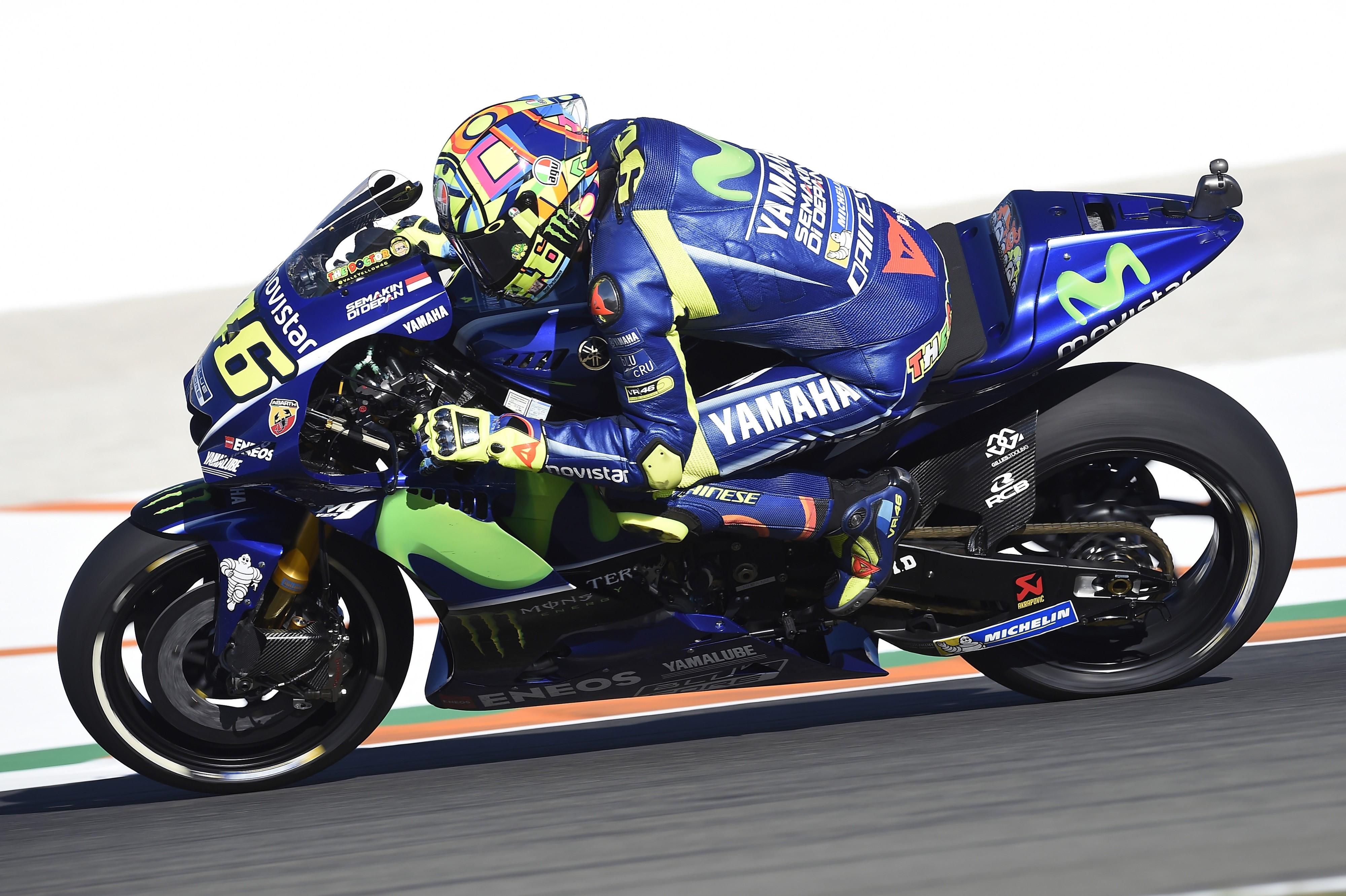 Valentino Rossi (Yamaha Factory) au Grand Prix de Valence 2017