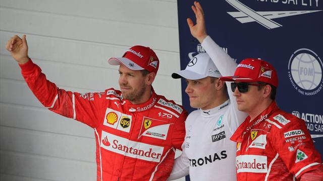 Brazilian Grand Prix: Bottas on pole as Hamilton crashes out