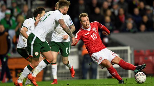 Ireland hold Denmark to first leg stalemate