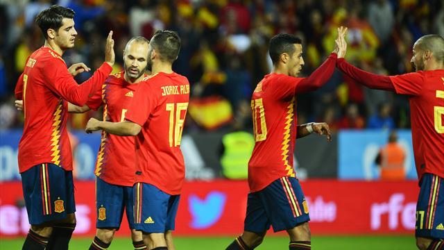 Vibrante empate a puro gol en San Petersburgo — Rusia-España