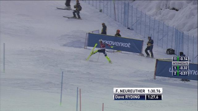 Heartbreak for Dave Ryding on second run