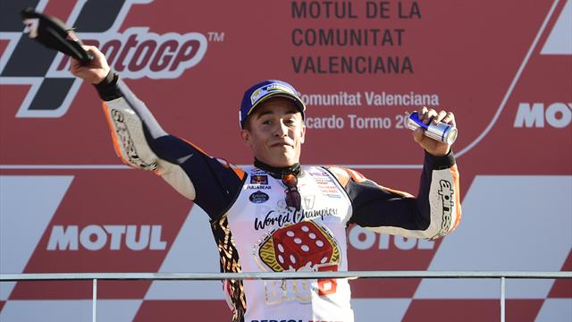 Marquez takes fourth MotoGP title in five years