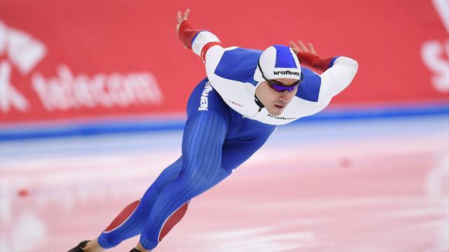 Русские конькобежки выиграли командный спринт наэтапеКМ смировым рекордом
