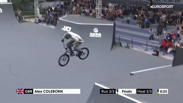 Britain's Coleborn pulls off superb skills on way to silver