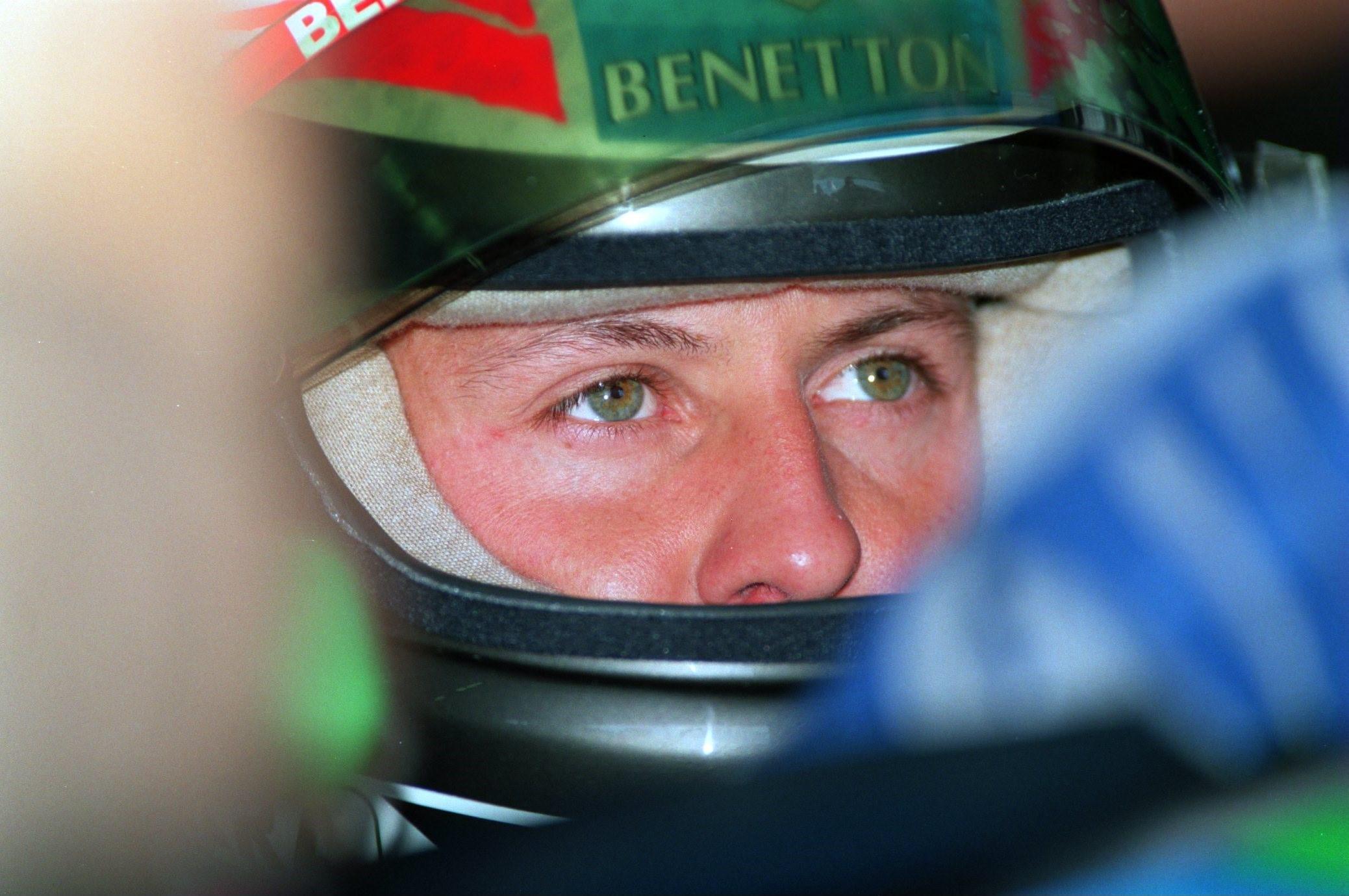 Michael Schumacher (Benetton) au Grand Prix de Grande-Bretagne 1994