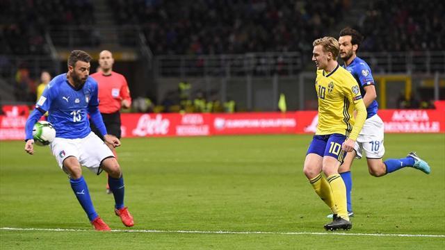 Italia-Svezia, formazioni ufficiali: 3-5-2 confermato, dal 1' Jorginho e Gabbiadini
