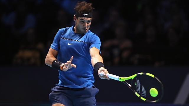 Rafa Nadal salva cuatro bolas de partido y se hace con la segunda manga en el tie break