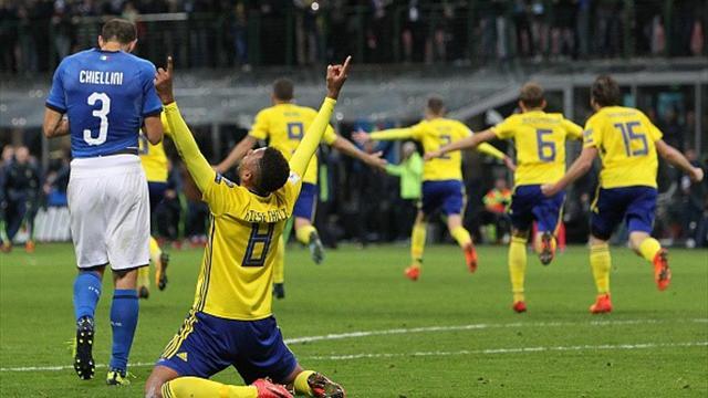 Шведы сошли с ума, празднуя выход на чемпионат мира, и разнесли студию Eurosport