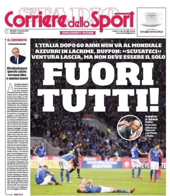 "Pressestimmen: Das Titelblatt des ""Corriere dello Sport"""