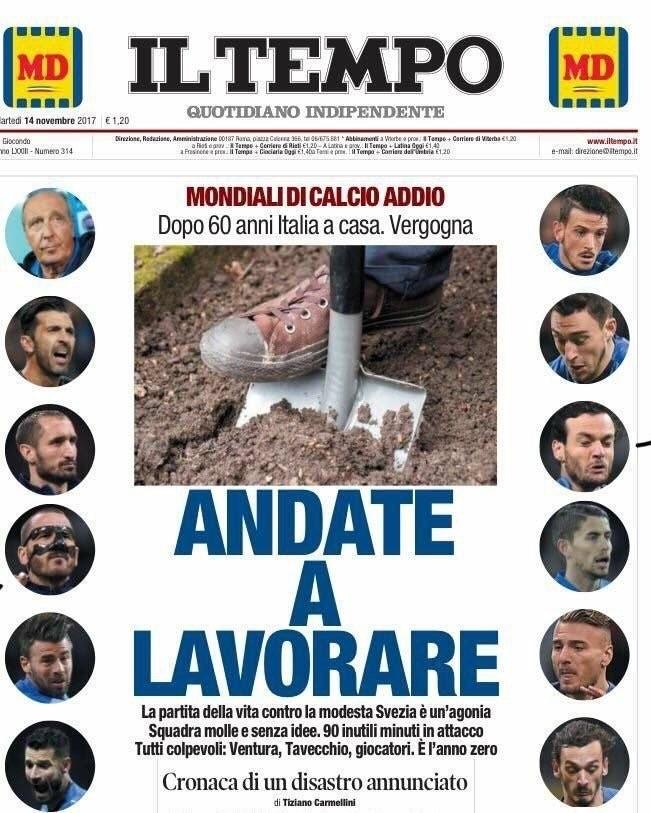 "Pressestimmen: Das Titelblatt von ""Il Tempo"""
