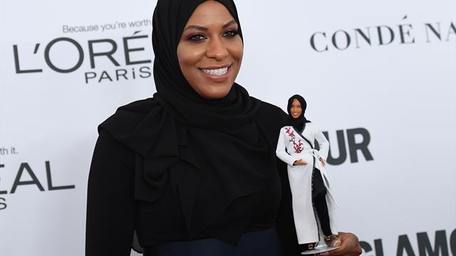 Fechterin Muhammad Vorbild für Barbie-Puppe mit Hijab