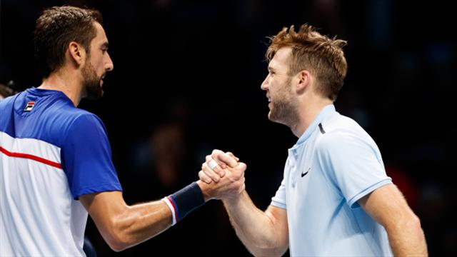 Jack Sock claims comeback win over Marin Cilic to keep ATP Finals hopes alive
