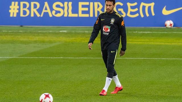 Neymar, Coutinho y Gabriel Jesús lideran a Brasil ante la joven selección inglesa