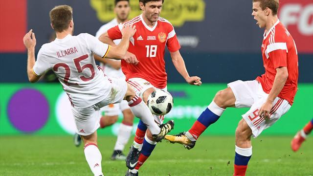 Sieben Monate vor WM-Beginn: Russland gelingt 3:3 gegen Spanien