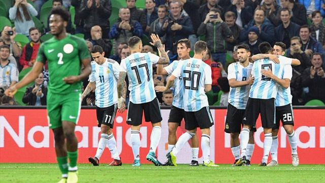 Serata no per l'Argentina: ko 4-2 con la Nigeria e malore per Agüero che sviene durante l'intervallo