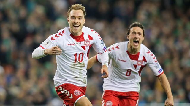 Repesca Rusia 2018, Irlanda-Dinamarca: Eriksen no podía faltar (1-5, global 1-5)