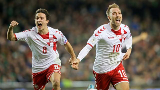 Eriksen fires hat-trick as Denmark break Irish hearts