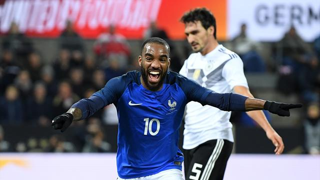 Lacazette s'est régalé : les quatre buts de cet Allemagne-France