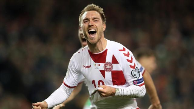 Christian Eriksen's treble breaks Ireland's hearts and sends Denmark to Russia
