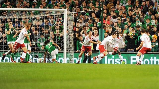 1-5. Un triplete Eriksen destroza a Irlanda y lleva a Dinamarca al Mundial