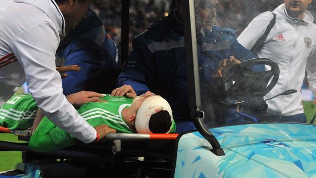 Родриго вырубил Лунева ударом коленом в голову, и Глушаков оформил первый сухарь в воротах сборной