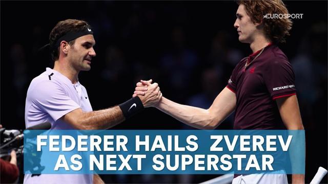 Federer hails Zverev as next superstar