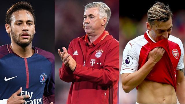 Ozil, Neymar y Ancelotti, los nombres del día