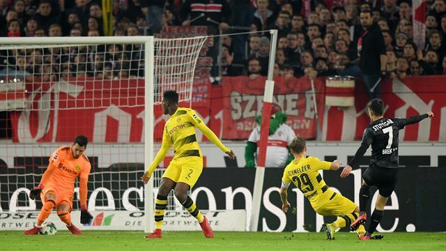 Sans Aubameyang, Dortmund coule à Stuttgart (2-1)