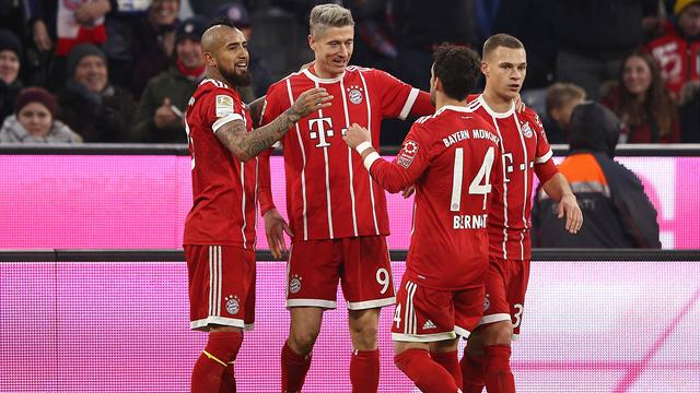 Atomic blond Lewandowski double stretches Bayern winning run