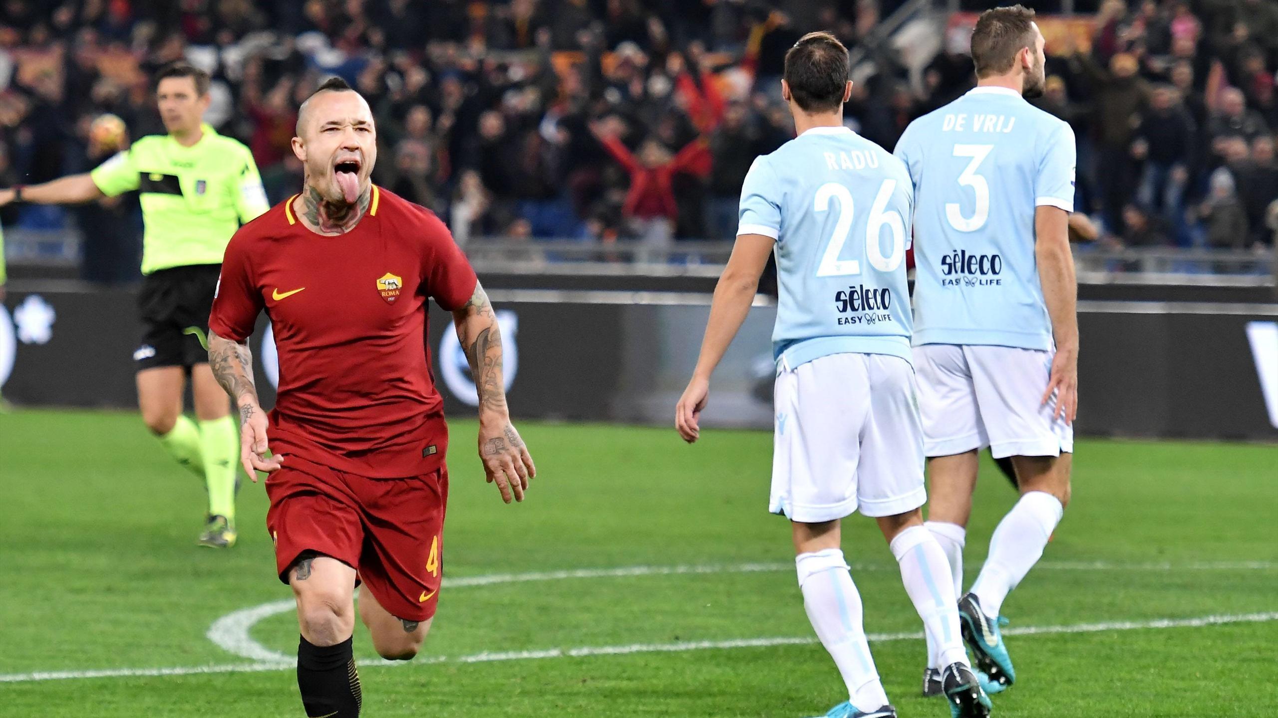 Derby E Sorpasso: La Roma Vince 2-1 Con Perotti E Nainggolan E Supera La Lazio In Classifica