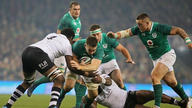 Second-string Ireland given scare by brave Fiji