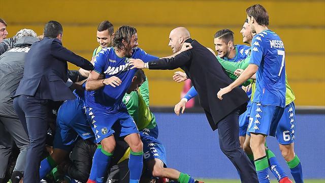 Benevento-Sassuolo 1-2: emozioni nel finale, la risolve Peluso