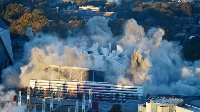 ВСША занесколько секунд снесли 70-тысячный стадион
