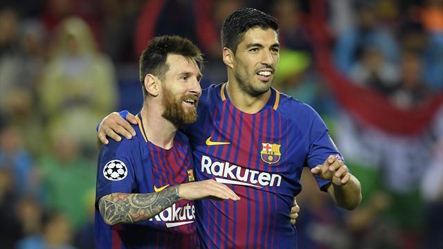 Le festival de Messi et Suarez à l'entraînement