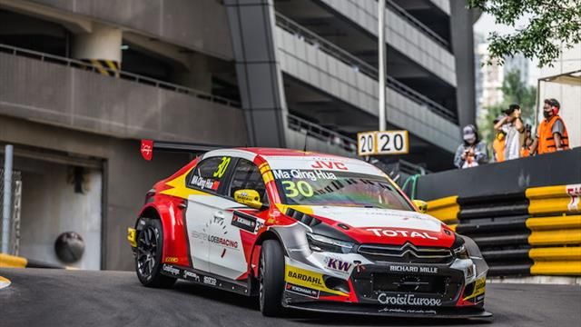Ma shows pace on WTCC return